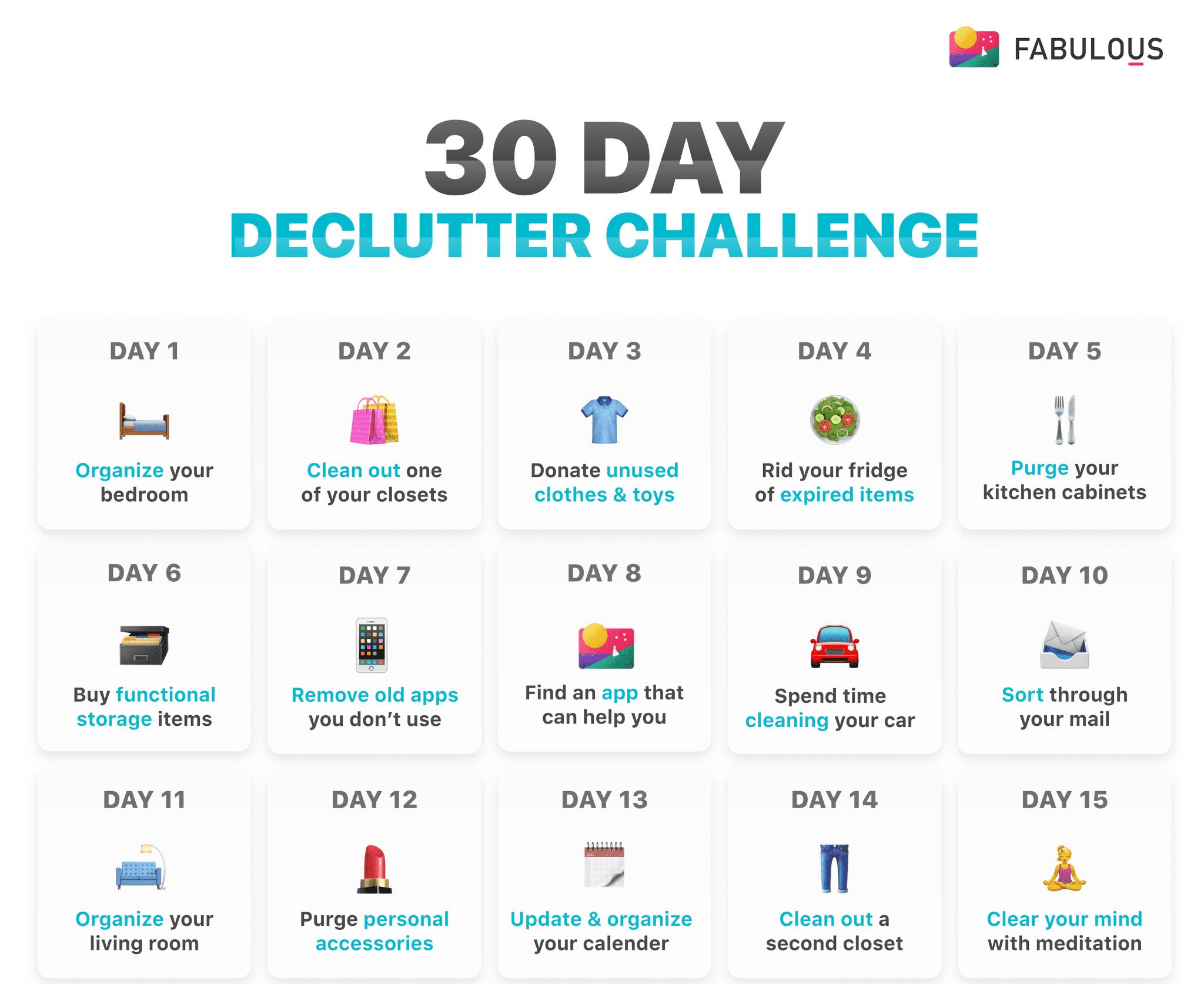 30 Declutter Challenge (declutter Your Life)