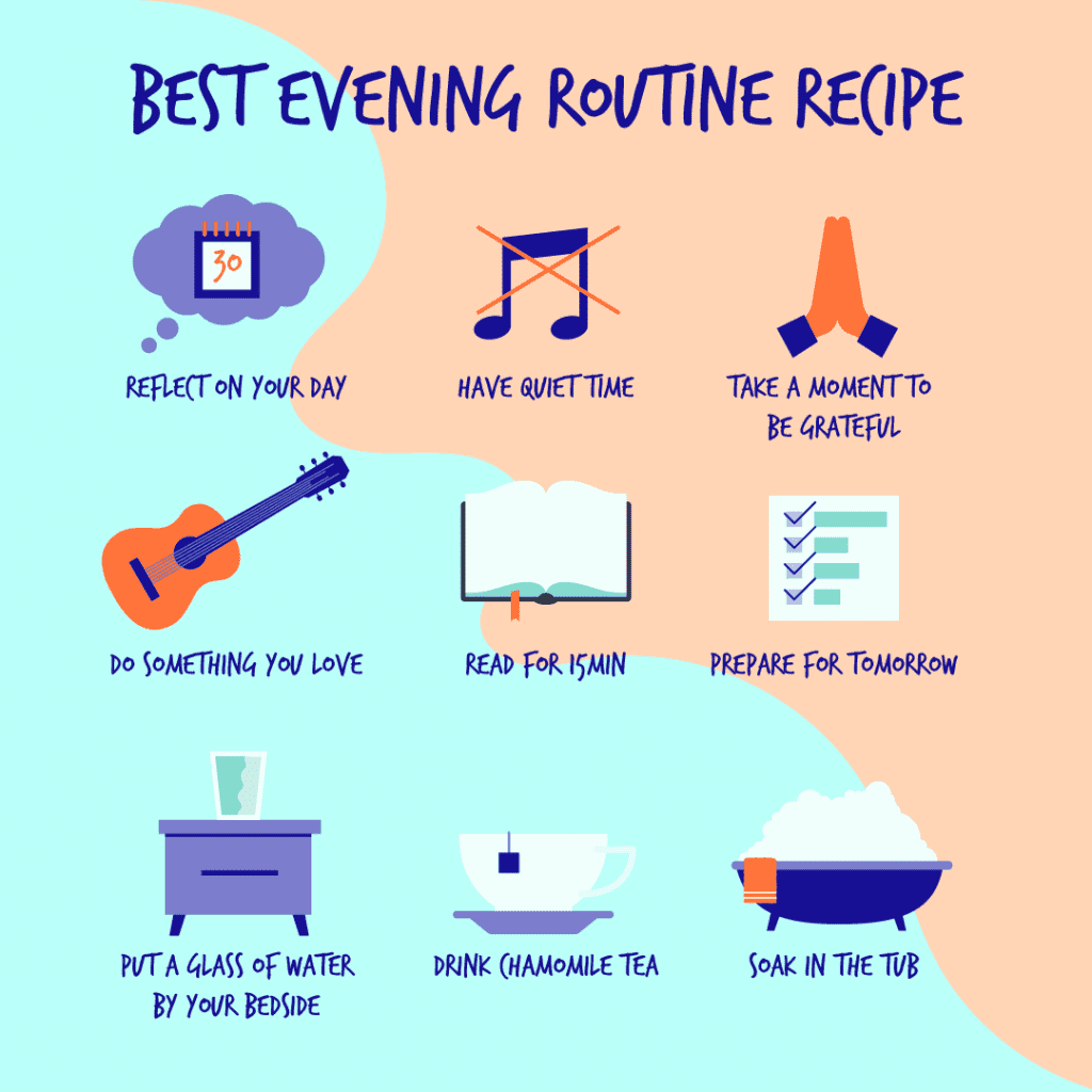 Image result for bedtime routine adults